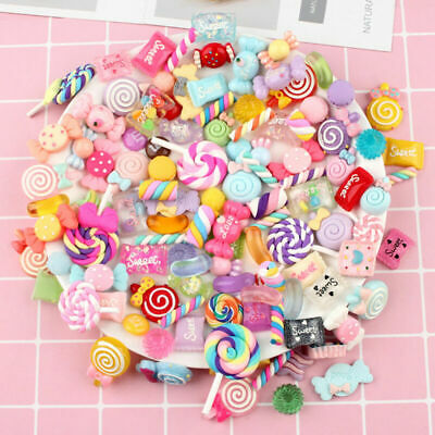 AU15.97 • Buy 100Pcs Sweets DIY Candy Mixed Slime Bead Resin Making Charms Beads