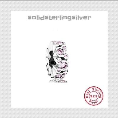 AU30.99 • Buy New S925 Sterling Silver Disney Minnie Mouse Spacer Charm By Pandora's Palace