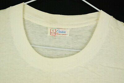 $ CDN63.10 • Buy Vintage 50s Carters Blank White T Shirt Single Stitch Distressed Mens M