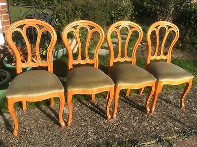 Set Of 4 Younger Heavy Cherrywood Dining Chairs • 125.99£