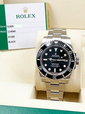 $ CDN15909.38 • Buy BRAND NEW Rolex Submariner 114060 Black Dial Ceramic Bezel Box Papers Stickers