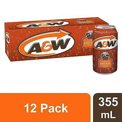 A&W Root Beer 355ml Cans - Imported Pack Of 12 • 17.99£