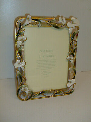 Past Times Enamelled Lily Ornate Metal Photo Frame • 16£