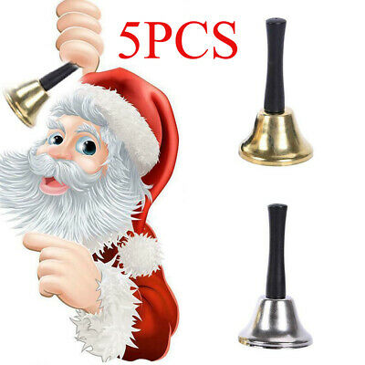 5PCS Christmas Hand Bell Xmas New Year Santa Claus Party Decor Wholesale Toy • 10.79£