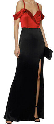 £9.99 • Buy Bnwt Catherine Deane Red & Black Two Tone Gown Maxi Dress Size 6