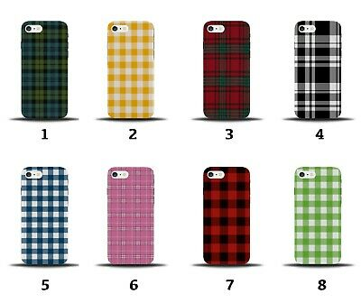 £9.99 • Buy Tartan Phone Case Cover Gingham Picnic Pattern Design Flannel Red Green 8169