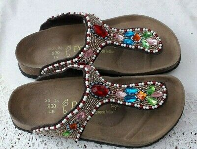 Birkenstock Papillio Gizeh  Kerala Jewel Beaded Sandals - Uk 3.5, Eur 36 Regular • 37.99£