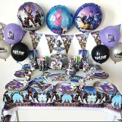 $ CDN32.89 • Buy FORTNIGHT THEME PARTY SUPPLIES 133 Pcs 10 People Set