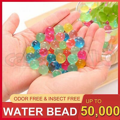 AU1.95 • Buy Up To 50000+ Orbeez Water Gel Beads Jelly Balls Crystal Soil For Vases Wedding