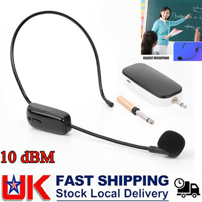 UHF Headset Wireless Microphone With Receiver For Teaching Voice Amplifier • 16.74£