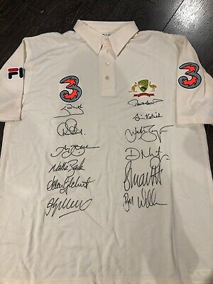 AU875 • Buy 2003/04 Player Issue Australian Test Cricket Shirt Signed By Team