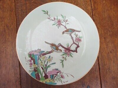 Exquisite Antique Minton Aesthetic Movement Plate Birds John Mortlock Retailer • 69.99£