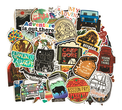 £3.99 • Buy 50 Holiday Camping Scrapbook Journal Happy Fun Kids Stickers Stickerbomb