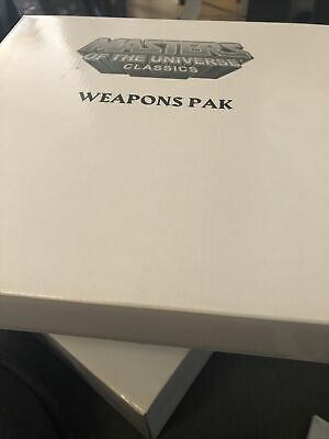 $40 • Buy Masters Of The Universe Classics Great Wars Assortment Weapons Pak MISB