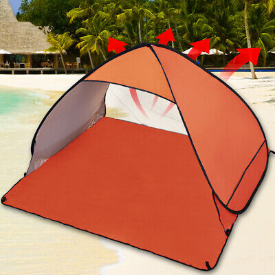 AU30.90 • Buy Pop Up Portable Beach Tent Sun Shade Easy Instant Fishing Shelter Orange