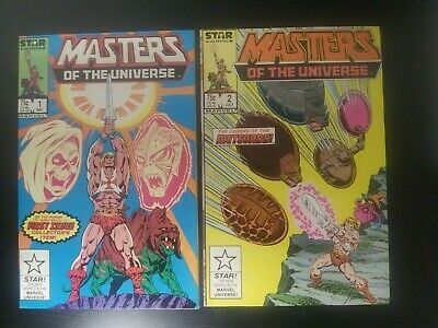 $29.99 • Buy Masters Of The Universe Lot Of 2 Comics # 1 2 Marvel He-Man Skeletor 1986 Nice!!