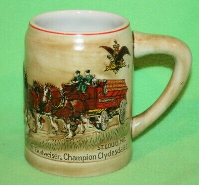 $ CDN58.80 • Buy 1980 Budweiser Holiday Stein Clydesdales - VERY NICE