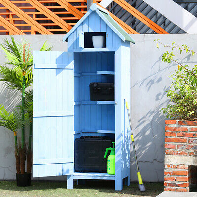 Garden Storage Shed Wooden Outdoor Tool Furniture Store Sheds Beach Sentry Box • 189.95£