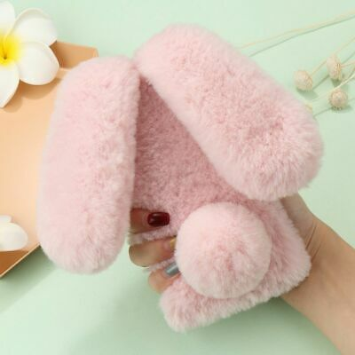 Bunny Rabbit Faux Fur Plush Fluffy Warm Phone Case Cover For IPhone 12 Pro 11 XR • 5.59£