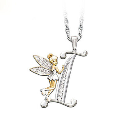 £2.99 • Buy Stunning Tinkerbell Fairy Alphabet Letter  I   Pendant Necklace With Organza Bag
