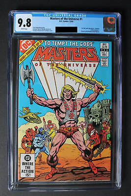 $750 • Buy Masters Of The Universe #1 CGC 9.8 - FIRST FULL COMIC; Based On Mattel Figures
