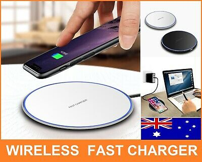 AU9.95 • Buy Qi Wireless Charger FAST Charging Pad For IPhone 12 11 X XS 8 8+ Samsung S10 OZ