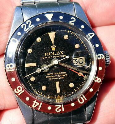 $ CDN48219.29 • Buy 1958 Vintage Rolex GMT-Master 6542 Watch Gilt Swiss Tropical Dial Bakelite Bezel