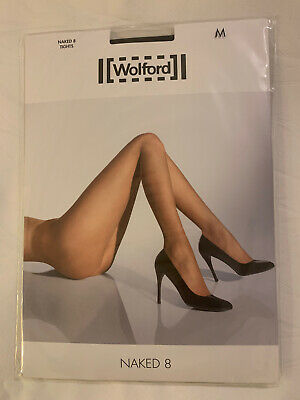 Wolford Naked 8 Tights Colour Black, Size Medium • 15£