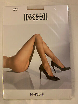 Wolford Naked 8 Tights Colour Gobi,size Large • 14£