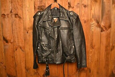 $299 • Buy HARLEY DAVIDSON 80's HD HORSEHIDE PERFECTO MOTORCYCLE LEATHER JACKET SIZE M-42