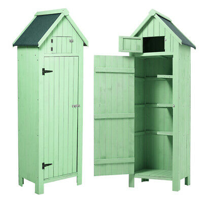 Outdoor Tool Storage Unit Garden Shed 6ft Wooden Toolkit Box Cabinet Small House • 189.95£