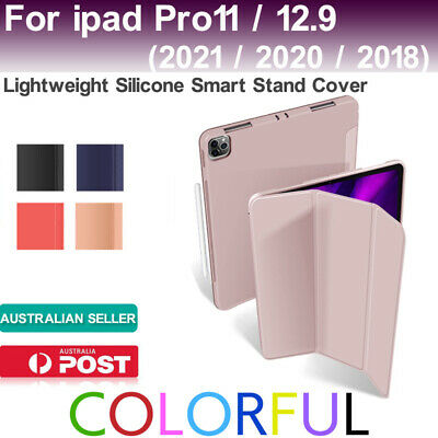AU14.88 • Buy Shockproof Cover Silicone Case For IPad Pro 11/12.9 2020 2018PU Smart Stand Case