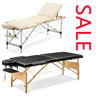 Deluxe Portable Lightweight Massage Table Beauty Couch Therapy Bed Folded Tables • 77.88£