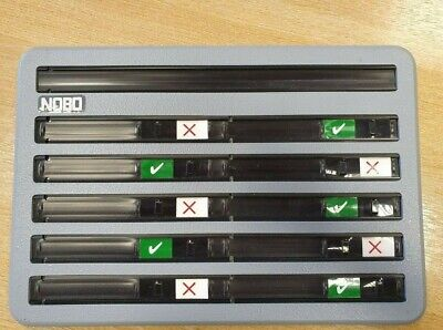 NOBO Sign In/out Board. Small 10 Slot Capacity Wall Mountable Sign In Board • 40£