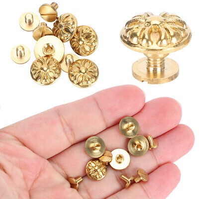 Brass Rivet Leather Craft Accessories DIY Rivets 10 Sets 10mm For Bags Luggage • 10.85£