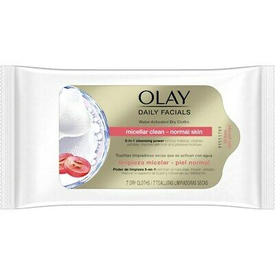 AU14.42 • Buy OLAY Daily Facials Water Activated Dry Cloths 5 In1 Cleansing Power 7-28 Cloths