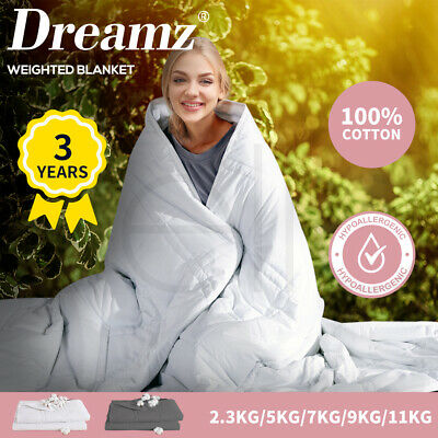 AU79.99 • Buy DreamZ Weighted Blanket Summer Cotton Heavy Gravity Adult Deep Relax 2.3/5/7/9KG