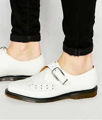 £56.72 • Buy Dr Martens ROUSDEN CREEPERS W/ MONK STRAP SMOOTH WHITE  USW6, USM5, UK4, EU37
