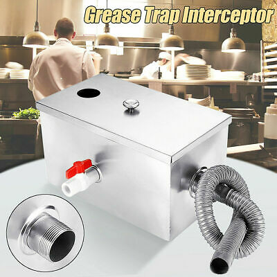 £64.99 • Buy Commercial 8LB 5GPM Grease Trap Stainless Steel Interceptor Kitchen 14×8×8