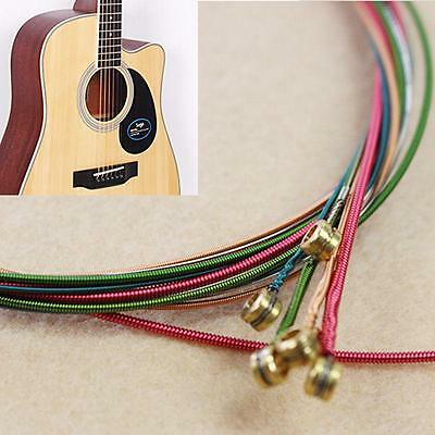 $ CDN1.82 • Buy 6pcs Set Acoustic Guitar Strings One Rainbow Colorful Color String WS
