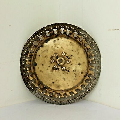 Old 1950's Vintage Beautiful Handmade Floral Design Cast Brass Plate / Tray #617 • 28.02£