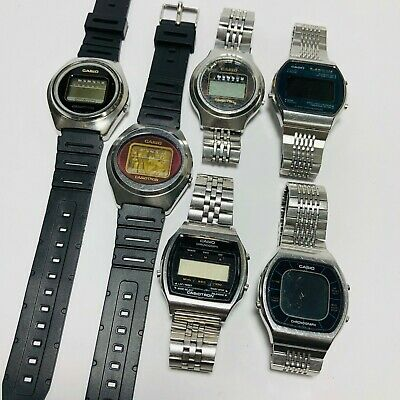 $ CDN168.30 • Buy LOT OF 6pc Vintage CASIOTRON Digital Watch Rare For SPARE PARTS / REPAIRS #3