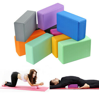 Yoga Block EVA Foam Pilates Workouts Brick Fitness Exercise Gym Sport Non-Slip • 4.68£