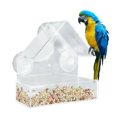 £5.49 • Buy Window Bird Feeder Wild Table Hanging Suction Plastic Clear Viewing Seed Nut