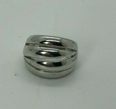 $ CDN12.61 • Buy Pretty Signed Lia Sophia Silver Tone Abstract Figural Ring Statement Size 7