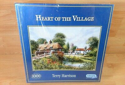 Gibsons 1000 Piece Puzzle  Heart Of The Village   By Terry Harrison. • 21.99£