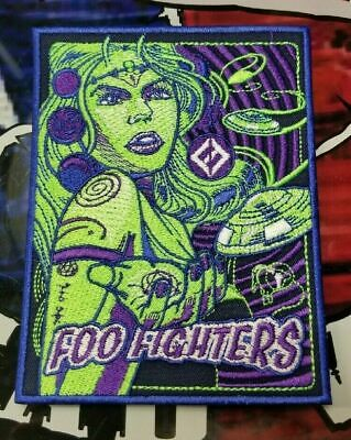 $22 • Buy Embroidered Foo Fighters Concert & Gold Concert Poster Patch