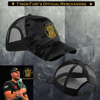 Exclusive Tyson Fury Gypsy King Black Camo & Gold Original Logo Embroidered Cap. • 16.99£