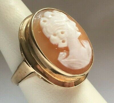 £105 • Buy *Brand New Vintage 9ct Yellow Gold Cameo Ring 7g Hallmarked UK - Free Postage*
