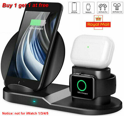 3 In 1 Qi Wireless Charger Dock Stand Station For Apple IWatch IPhone 12 12 Pro • 13.99£
